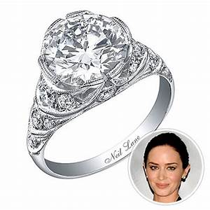 emily blunt celebrity inspired rings instylecom With celebrity replica wedding rings
