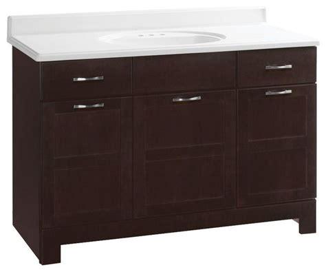 Glacier Bay Bathroom Cabinets by Glacier Bay Cabinets Casual 48 In W X 21 In D X 33 1 2