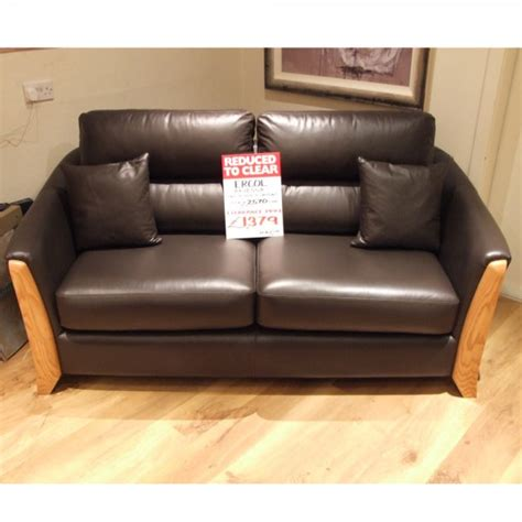Loveseats On Clearance by Ercol Ravenna Medium Leather Sofa Clearance