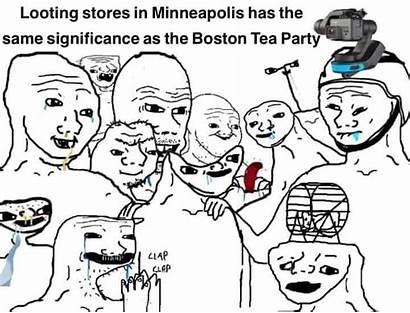 Meme War Burning Down Looting