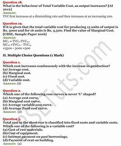Ncert Solutions For Class 12 Micro Economics Chapter 6
