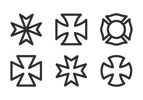 vector maltese cross icon set   vectors