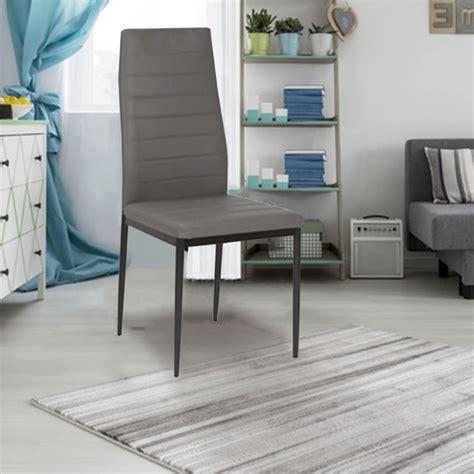 lot de 6 chaises grises lot de 6 chaises romane grises pour salle à manger meubles