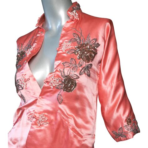 1950's Custom Made Silk Satin Chinese Jacket From Giddy On
