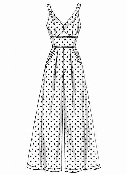 Patterns Jumpsuit Dresses Sewing Jumpsuits Mccalls Drawing