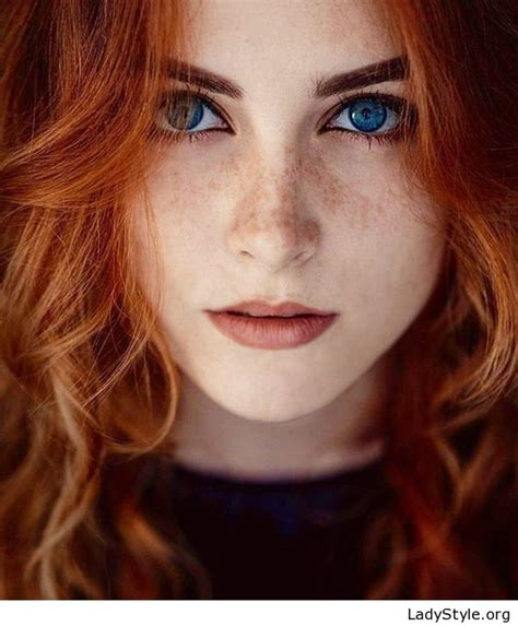 Beauty With Red Hair And Blue Eyes Ladystyle