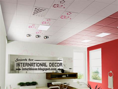 suspended ceiling tiles designs  bathroom ceiling