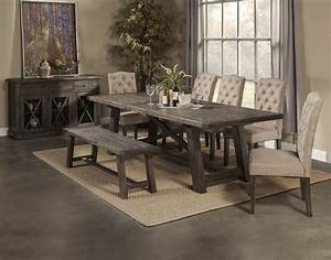 Alpine Furniture Newberry 7 Piece Extension Dining Room