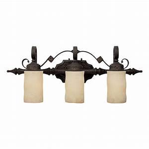 Capital Lighting Rustic Iron River Crest 3 Light Bathroom