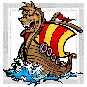 Viking Ship Clipart - Vector Clipart Norseman Ship