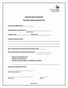 Free 15  Overtime Authorization Forms In Excel