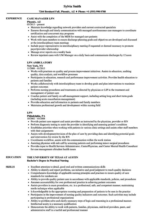 Lpn Resume Template by Lpn Resume Template Exle Document And Resume