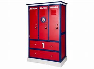 Childern39s locker style dresser sports themed furniture for Locker style furniture