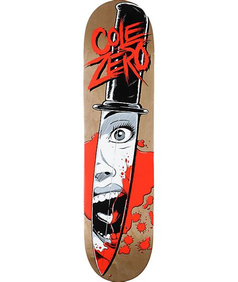 zero cole knife 7 75 quot skateboard deck zumiez