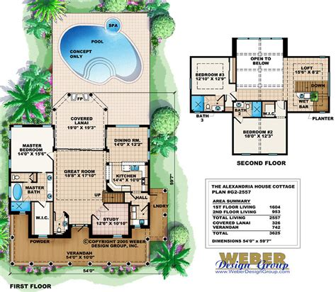 sq ft house plans  swimming pool