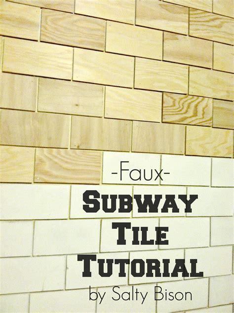 faux subway tile faux subway tile tutorial