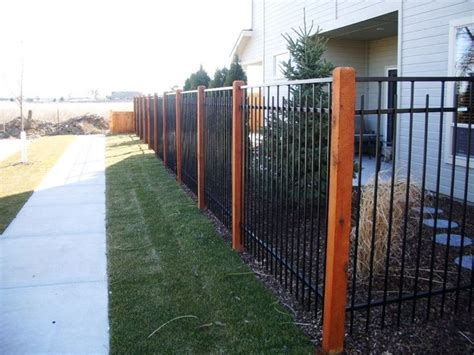 5 Foot Fence Aluminum With Cedar Posts