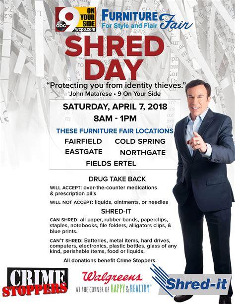 side shred day  furniture fair