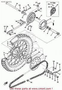 Yamaha Dt125 1975 Usa Rear Wheel