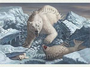 Polar Bear: Attacking a Ringed Seal with a baby