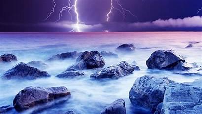 Lightning Desktop Wallpapers Nature Violet Cool Backgrounds