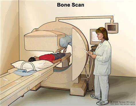 scan cancer patient scanner bone through table bones under technician procedure drawing scans camera machine gamma ct scintigraphy slides body