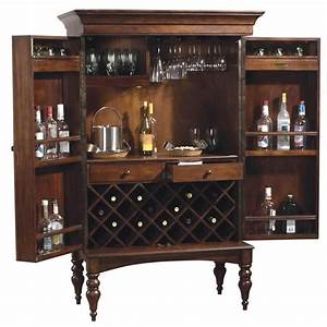 Howard Miller Cherry Hill Home Bar Wine and Liquor Cabinet ...