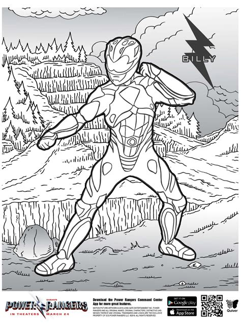 kids  funcom coloring page quiver power rangers billy