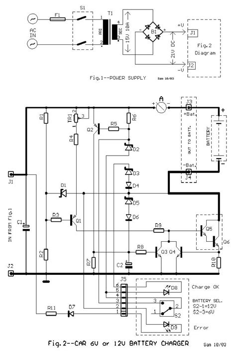 Circuit Diagram 12v To 6v by 6v And 12v Car Battery Charger Schematic Design