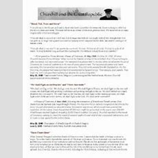 English Worksheets Winston Churchill´s Speeches