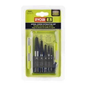 Ryobi Spiral Screw Extractor Set (5 Piece) A96SE51   The