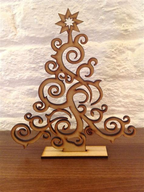 set   laser cut christmas tree decoration gift xmas