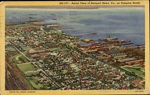 Aerial View Of Newport News, Hampton Roads Virginia