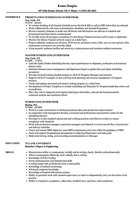Scheduling Coordinator Cover Letter by Scheduling Coordinator Resume Sle Scheduling