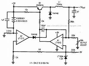 Simple Low Power Switching Regulator Circuit Diagram