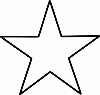Star Template Point Chrismon Five Outline Printable