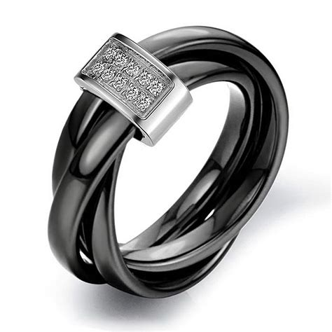 black band engagement rings for women wedding and bridal inspiration