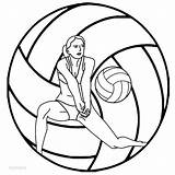 Volleyball Coloring Printable Pages Ball Print Sheet Sketch Sheets Sports Printables Players Cool2bkids Clipart Player Sport Valley Certificates Softball Playing sketch template