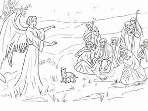Krippe Zum Spielen : ausmalbild der engel gabriel verk ndet den hirten die geburt christi ausmalbilder kostenlos ~ Frokenaadalensverden.com Haus und Dekorationen