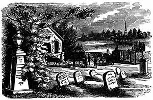 Vintage Graveyard Scene ~ Free Clip Art | Old Design Shop Blog