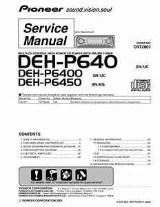 Pioneer Deh P640 Deh P6400 Deh P6450