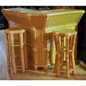 Meuble Bar Angle : meuble bar d 39 angle en bambou h 110 cm ~ Melissatoandfro.com Idées de Décoration