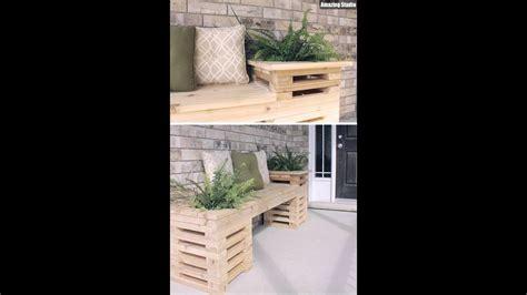 diy wood crate outdoor bench youtube