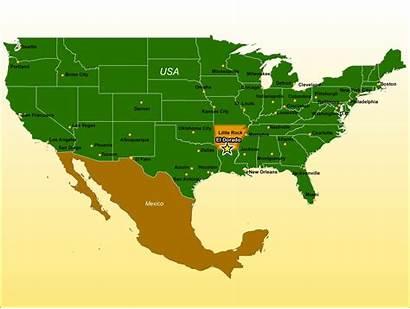 Map Regional Dorado Arkansas El Ar Usa