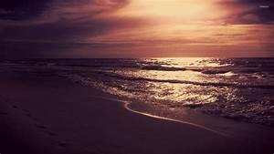 Purple sunrise at the beach wallpaper - Beach wallpapers ...