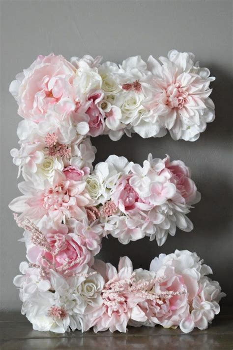 bailey begonia custom floral letters click     etsy blush pink wedding floral