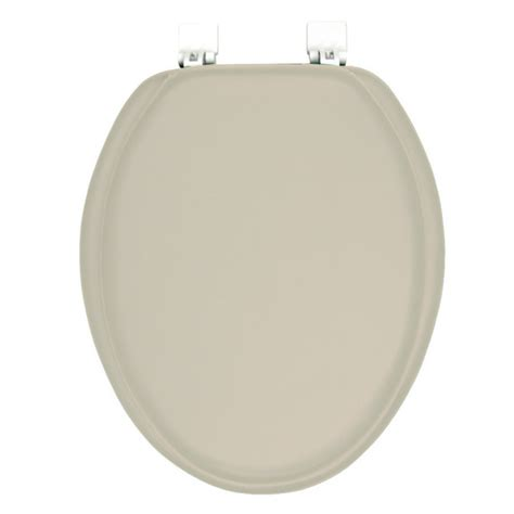 cushioned elongated toilet seat ginsey solid chagne beige elongated padded toilet seat 6335