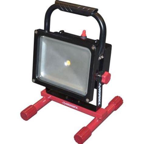 home depot led work light husky rechargeable 1000 lumen 25 watt led work light