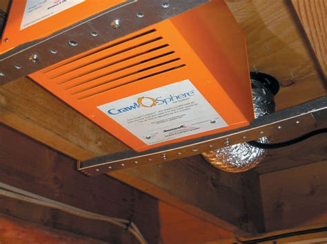 crawl space ventilation fans crawl space fan system for ventilating a crawl space in