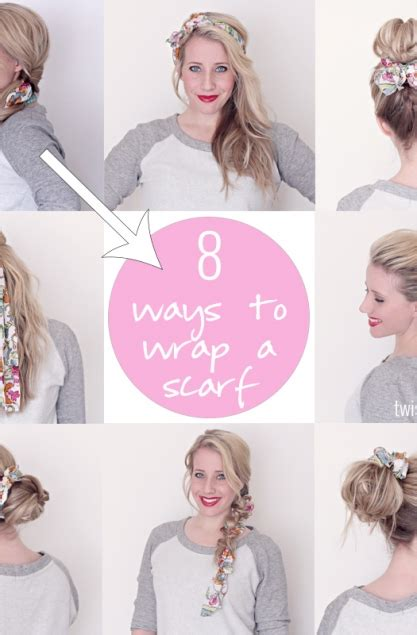 ways to drape a scarf 8 ways to wrap a scarf twist me pretty